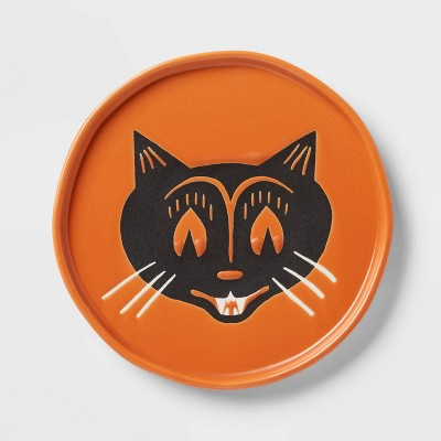 """6"""" Stoneware Cat Face Appetizer Plate - Threshold™"""