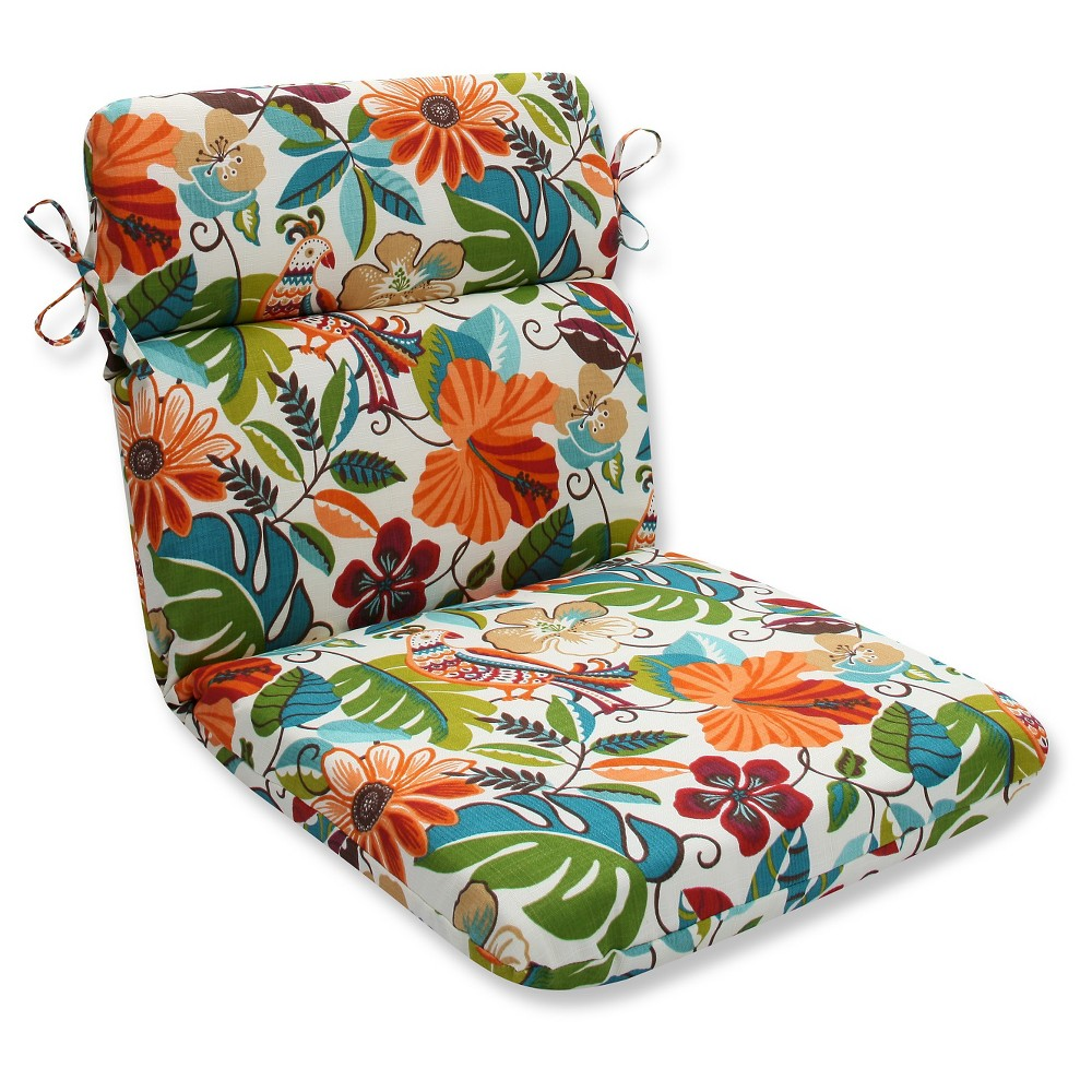 Pillow Perfect Outdoor One Piece Seat And Back Cushion Off White