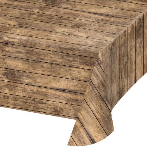 Creative Converting Wood Grain Plastic Tablecloth Target