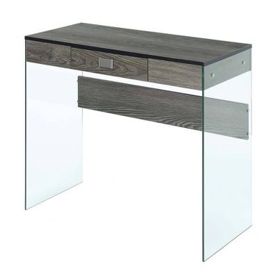 "36"" Soho Glass Desk - Breighton Home"