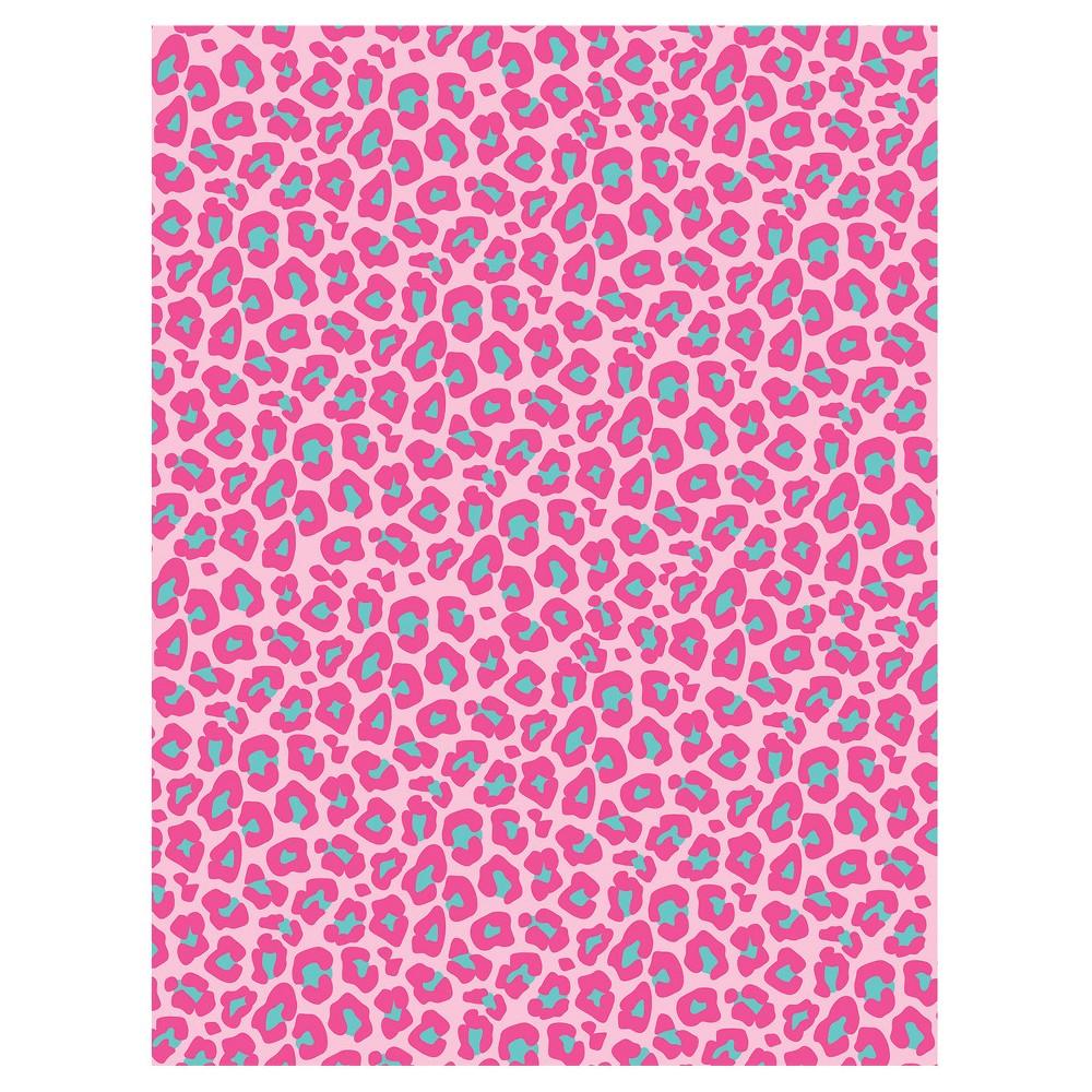 Pink Leopard Print Photo Backdrop, Multi-Colored
