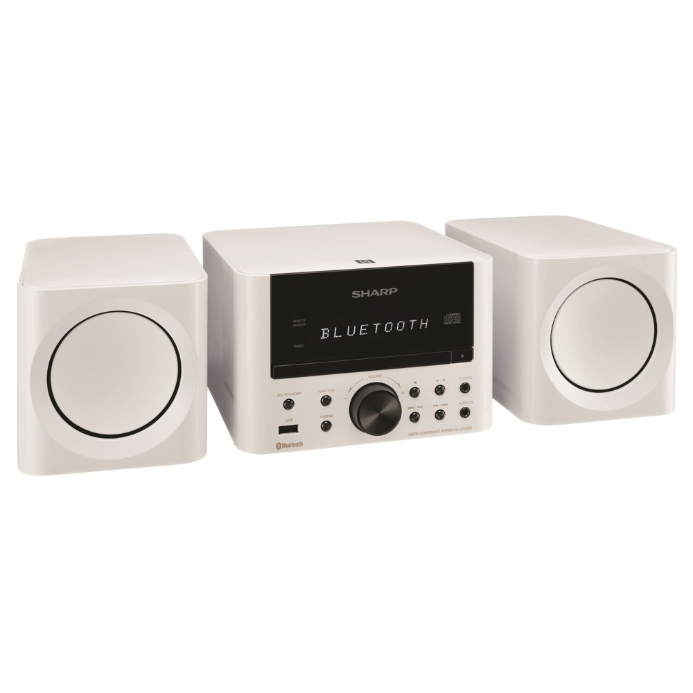Sharp Bluetooth Speaker System with Bluetooth Wireless Connection - White (XL-LS703B-WH)