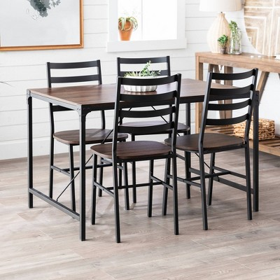 5pc Industrial Angle Iron Dining Set - Saracina Home : Target