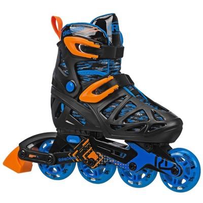 Roller Derby Tracer Boys Adjustable Inline Skate - Black/Blue
