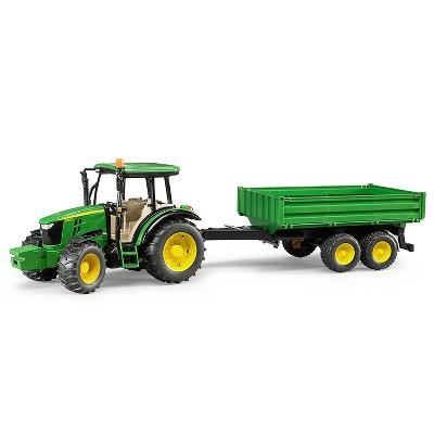 Bruder John Deere 5115M Tractor with Trailer