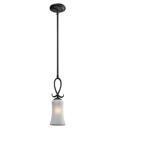 Mini Pendant with White Watermark Glass Ceiling Lights - Z-Lite - image 1 of 1