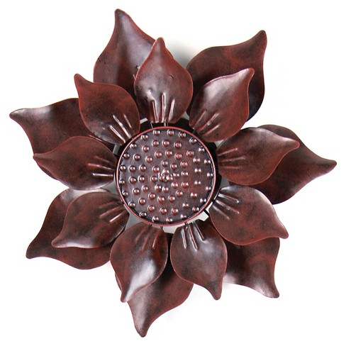 "12"" x 43"" Kinetic Dual Petal Sacred Lotus Flower Garden Stake - Bronze - image 1 of 1"