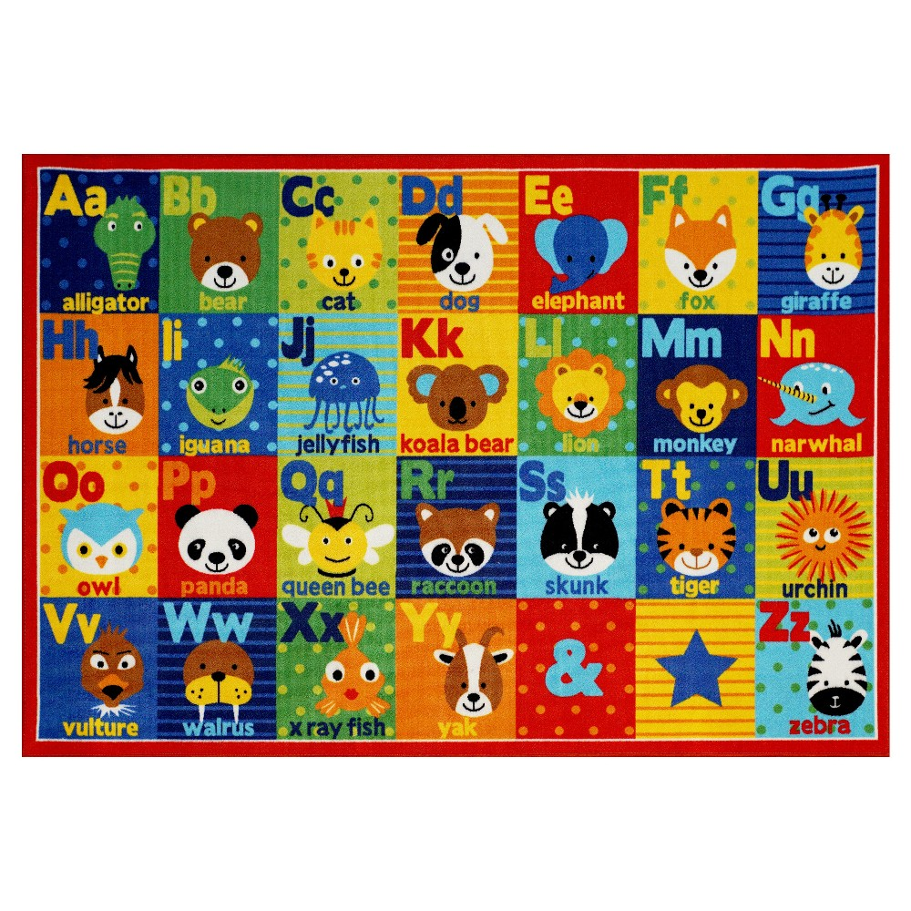Image of Smithsonian Animal Alphabet Rug (5'x7')