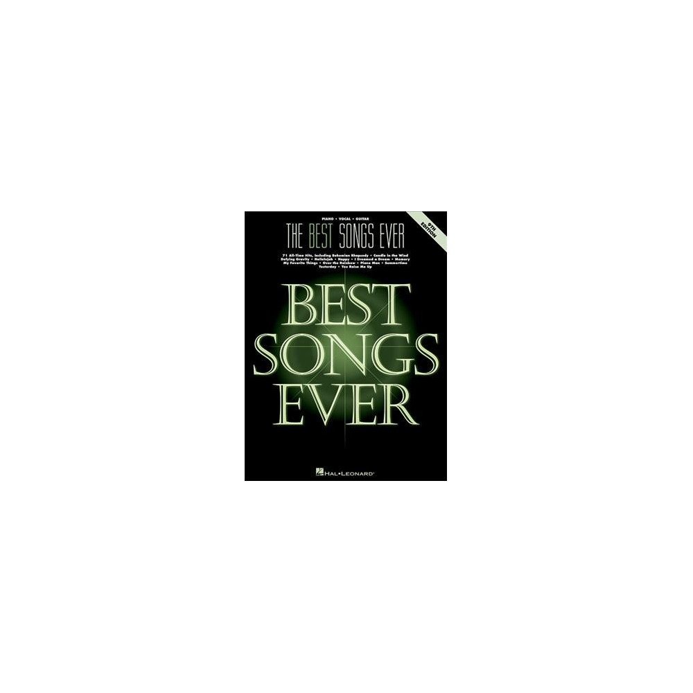Best Songs Ever : Piano/Vocal/Guitar - (Paperback)