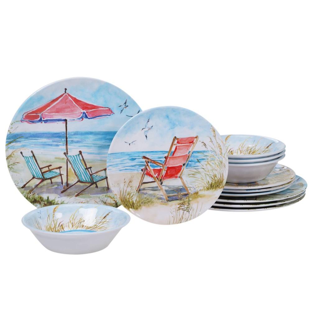 Image of 12pc Melamine Ocean View Dinnerware Set - Certified International
