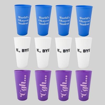 12ct Plastic Reusable Cups - Bullseye's Playground™