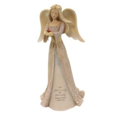 "Foundations 7.5"" Angel Of Generosity Flower Love Inspiring Message  -  Decorative Figurines"