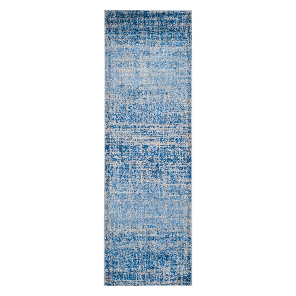 2'6X18' Spacedye Design Runner Blue/Silver - Safavieh