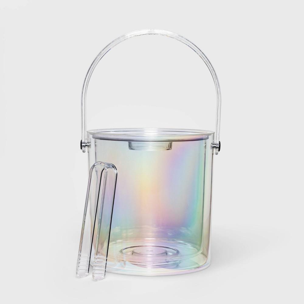 Image of 3.1qt Plastic Iridescent Ice Bucket - Sun Squad