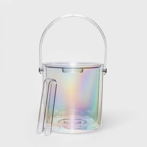 3.1qt Plastic Iridescent Ice Bucket - Sun Squad™ - image 1 of 3