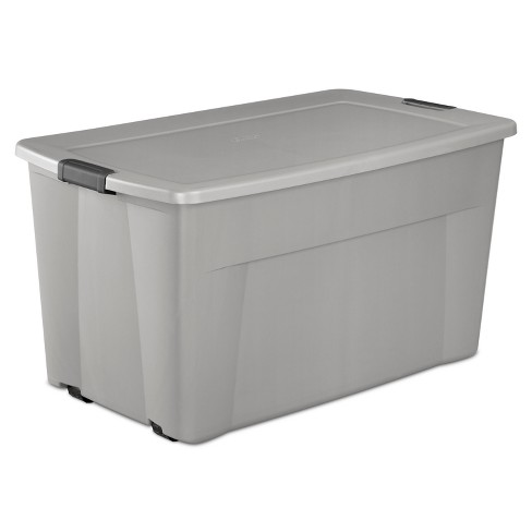 45gal Wheeled Latch Tote Gray - Sterilite - image 1 of 3