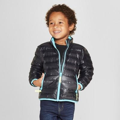 Toddler Boys' Down Puffer Jacket - Cat & Jack™ Black 12M
