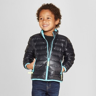 Toddler Boys Down Puffer Jacket - Cat & Jack™ Black 12M