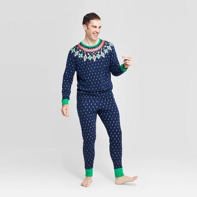 Men's Holiday Fairisle Pajama Set - Wondershop™ Navy XL