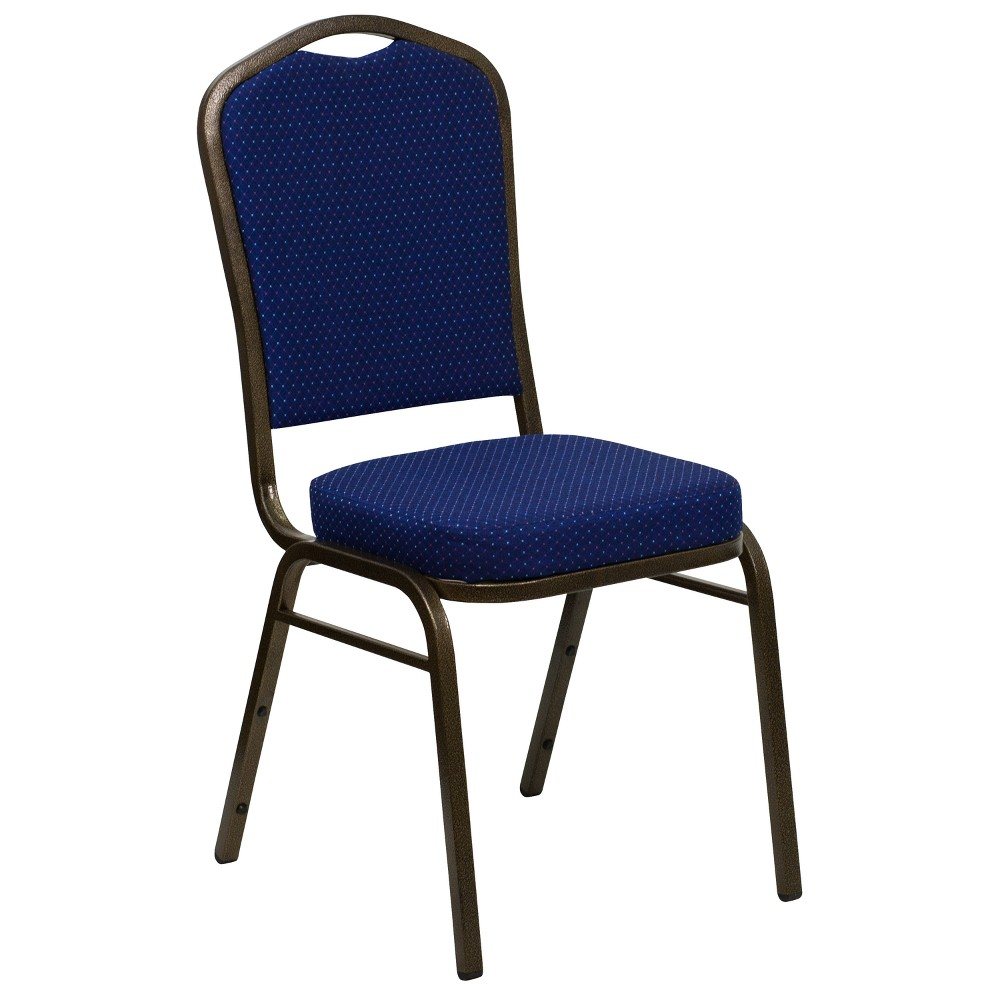 Riverstone Furniture Collection Fabric Banquet Chair Navy Blue
