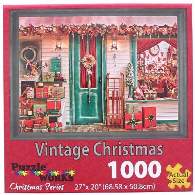 Puzzleworks Vintage Christmas 1000 Piece Jigsaw Puzzle