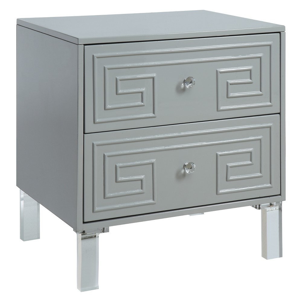 babin Contemporary Side Table Gray - Homes: Inside + Out