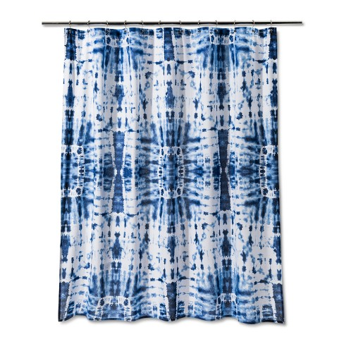Tie Dye Design Shower Curtain Glisten Blue