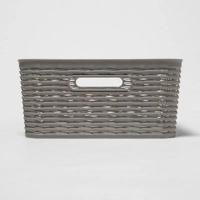 11L Medium Wave Design Storage Bin Gray - Room Essentials™
