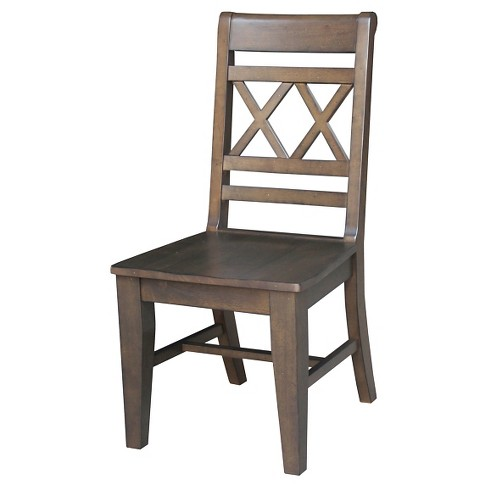 Canyon Double X- Back Dining Chair Wood/Graphite (Set of 2) - International Concepts - image 1 of 2