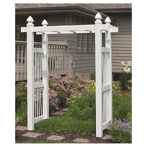 "78"" Courtyard Arbor - White - Dura-Trel - image 1 of 1"
