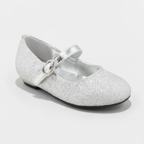 c665067b16a7 Toddler Girls  Flowers by Nina Monet Glitter Mary Jane Shoes - Silver
