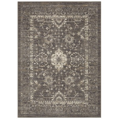 5'x7' Vintage Tufted Distressed Accent Rug Gray - Threshold™