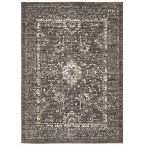 Distressed Accent Rug Gray