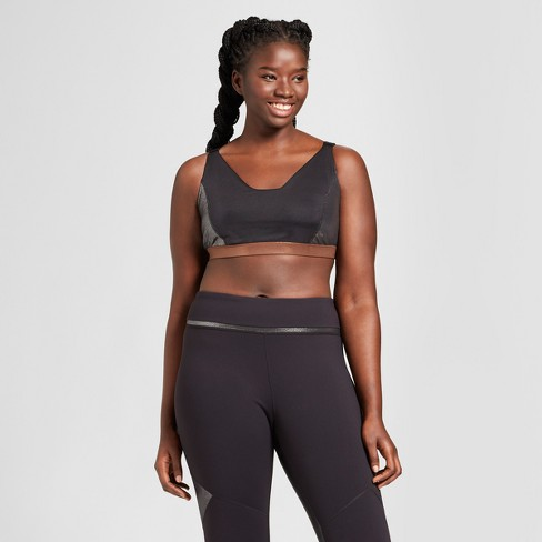 92feeb9623 Women s Plus Size Shine Pieced Sports Bra - JoyLab™   Target