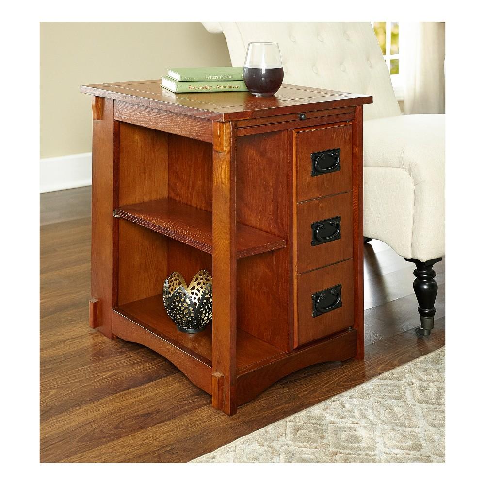 Alan Cabinet Table Oak (Brown) - Powell Company