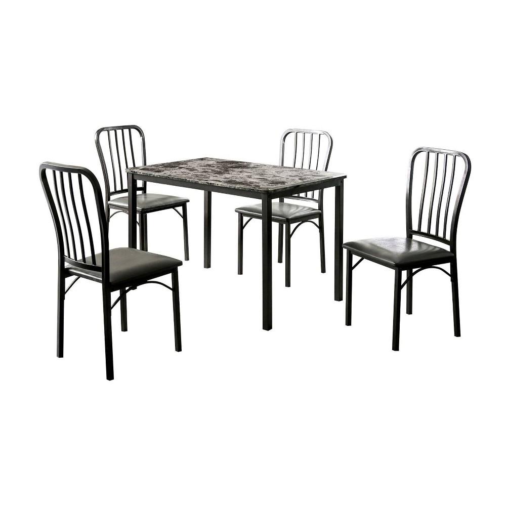 Image of 5pc Megwel Dining Table Set Gray - miBasics