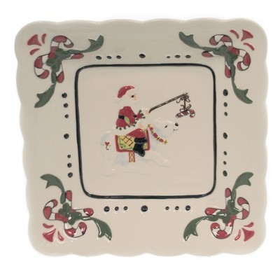 "Tabletop 10.25"" Santa With Polar Bear Dish Christmas Party  Bowl Cosmos Gifts Corp.  -  Serving Bowls"