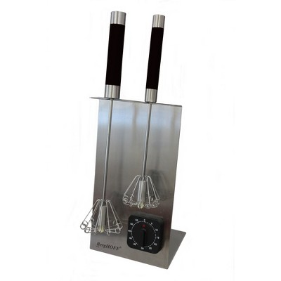 "BergHOFF 16.5"" 18/10 Stainless Steel Whisk Stand & Timer Set, Black"