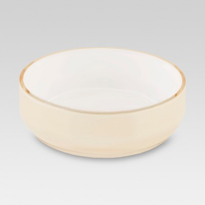 Pearlized Soap Dish Medium Beige - Threshold™