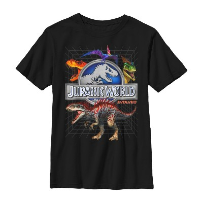 Boy's Jurassic World Rainbow Dinosaurs T-Shirt