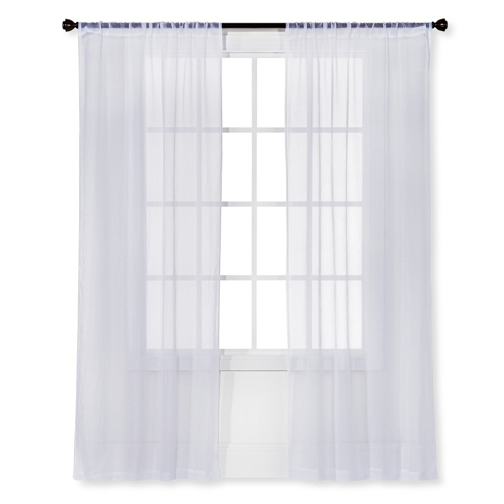 63 34 X40 34 Crinkle Sheer Curtain Panel White Room Essentials 8482