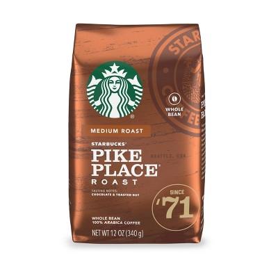 Starbucks Pike Place Roast Medium Roast Whole Bean Coffee - 12oz