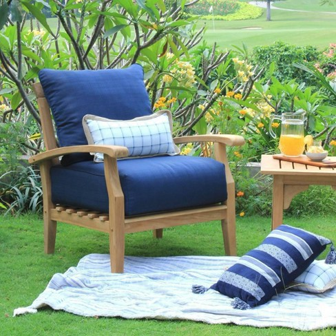 Caterina Teak Lounge Chair with Cushion - Cambridge Casual - image 1 of 4