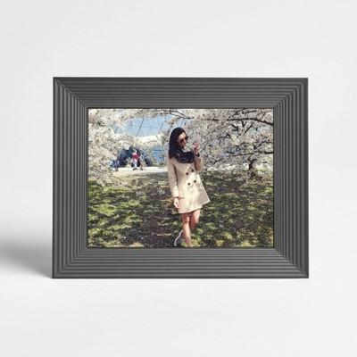 "9"" Mason Graphite Digital Photo Frame Gray - Aura Home"