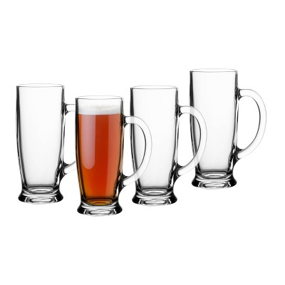 18oz 4pk Glass Craft Beer Mugs - Cathy's Concepts