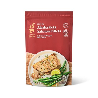 Alaska Keta Salmon Skin On Fillets - Frozen - 12oz - Good & Gather™