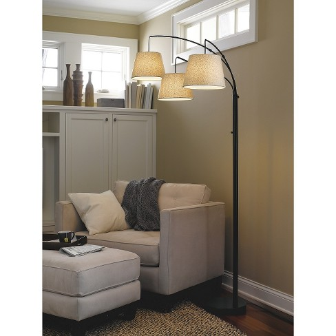 3-Arm Arc Floor Lamp (Includes CFL Bulb) - Threshold™ - image 1 of 4