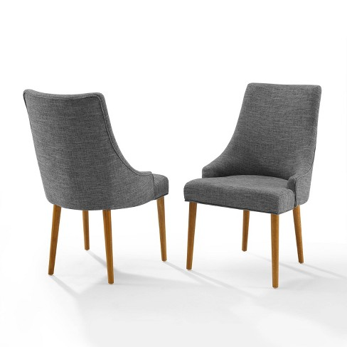 Set Of 2 Landon Upholstered Dining Chairs Brown Crosley Target