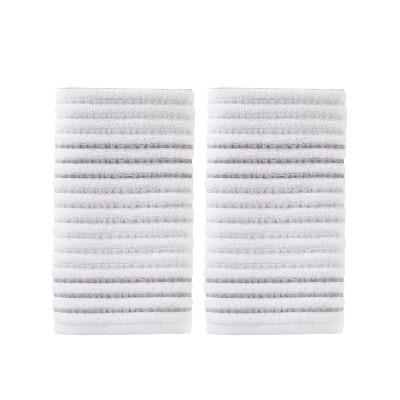 2pc Tie Dye Stripe Hand Towel Bath Towels Sets Gray - Saturday Knight Ltd.