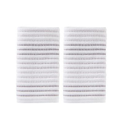 2pc Tie Dye Stripe Hand Towel Set Gray - Saturday Knight Ltd.